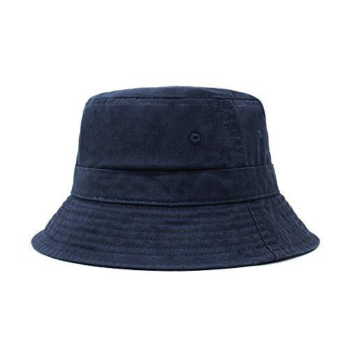 Cotton Bucket Hats (Unisex) Wide Brim Outdoor Summer Cap | Hiking, Beach, Sports (Navy1)