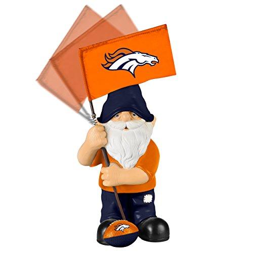 NFL Denver Broncos Springy Flag Gnome