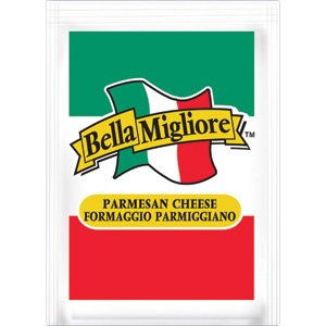 bella migliore grated parmesan cheese 200 ct 3 5 gram packet