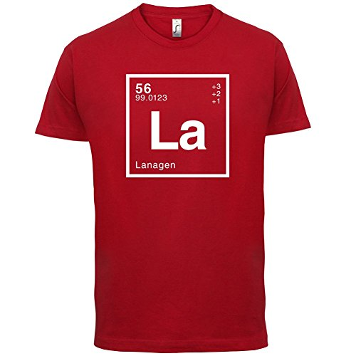 Lana Periodensystem - Herren T-Shirt - Rot - S
