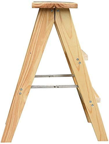 Hopfällbar stege förtjockad hushållsstege klättringsskor stol pall bänk badrum pall liten stege med halkfria mattor och plastlakan, 45 cm