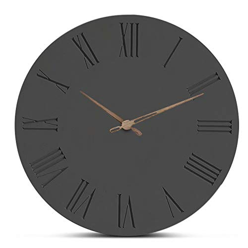 FlorLife Giant Wall Clock Round Wood Quartz Clock Simple Modern Decorative Wall Clocks for Living Room, Bedroom, Office, School, Kitchen, Nursery by FlorLife