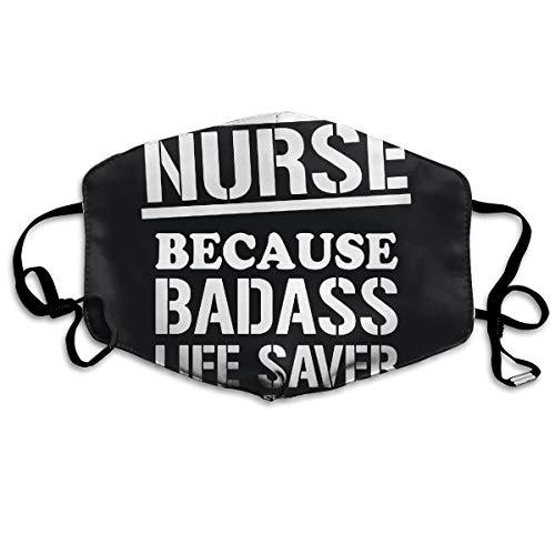 SDQQ6 Nurse Badss Lifesaver Funny Gift for Nurse Mouth Mask Unisex Printed Fashion Face Mask Anti-dust Masks