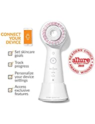 Clarisonic Mia Smart Sonic Facial Cleansing Brush Use for Exfoliating, Anti-Aging and Makeup Blending, White