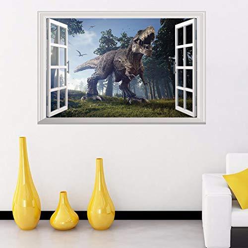 ahliwei Windows Falso Dinosaurio 3D Pegatinas De Pared para ...