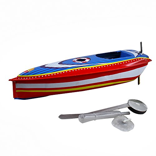 Gifts for Adults Tin Toys Collectibles Pop Pop Steam Engine Cruise Boat for Senior