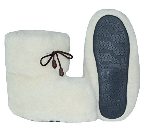 Marited 100% Healthy Wool Slippers Boots All Sizes Women Men Antislip Sole Ivory gVOuN7x