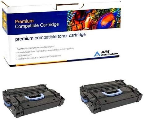 CF325X2PK NO. 25X 2//PK-34500 Page Yield - Generic AIM Compatible Replacement for HP Laserjet Enterprise M806//M830 Black Toner Cartridge