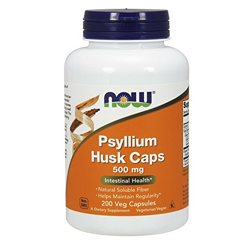 NOW Psyllium Husk 500mg Capsules product image