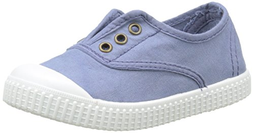 Victoria Inglesa Lona Tintada Punt. - Zapatillas Niños Bleu (36 Azul)