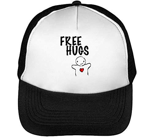Hugs Cute Graphic Gorras Hombre Snapback Beisbol Negro Blanco