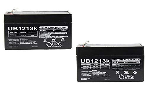Universal Power Group 12V 1.3Ah SLA Battery Replaces Compat Eternal 199235 Feeding Pump - 2 Pack