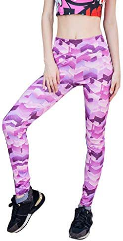 LUXISDE Yoga Pants for Women Yoga Printed Fitness Exercise Body-Building Exercise Bottom Pants