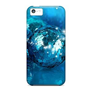 Excellent Iphone 5c Case Tpu Cover Back Skin Protector Bright Shiny Blues