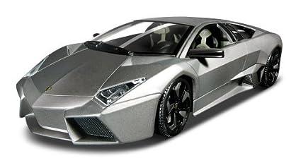 Amazon Com Burago 1 18 Lamborghini Reventon Matte Black Parallel