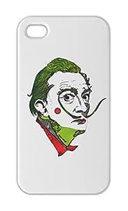Salvador Dali White Portrait Art Iphone 5-5s plastic case