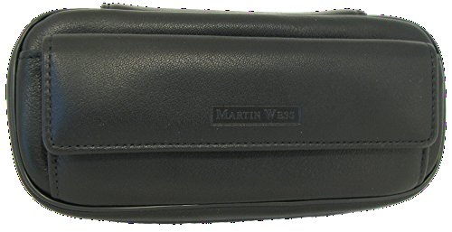Martin Wess Germany ''Lea'' Soft Lamb Nappa Leather 2 Pipe Bag Case by Martin Wess