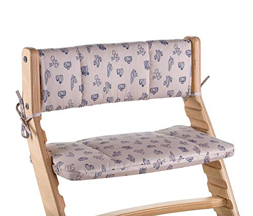 (Chair Cushion for Heartwood Adjustable Chair with Cactus Pattern Set with Backrest and Seat Cover)