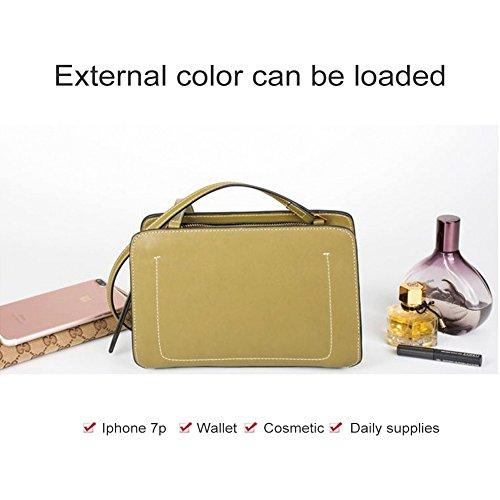 tinta pelle di Borsa Yoome semplice design tracolla a Borse a tracolla Verde in a unita qttBXgTxaw