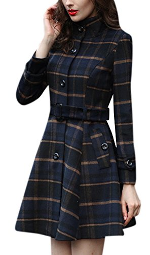 Plaid Belted Trench - 8
