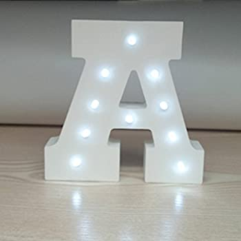 artstore decorative diy led letter lights signlight up wooden alphabet letter battery operated party wedding marquee dcorcold white a - Marquee Letter Lights