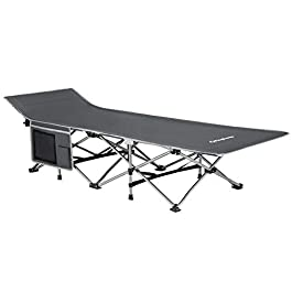 KingCamp Folding Bed Camping Portable Cot with Carry Bag,Support Up to 264 LBS