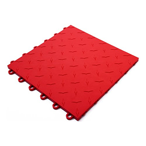 Speedway Garage Tile 789453R Red Garage Floor Tile