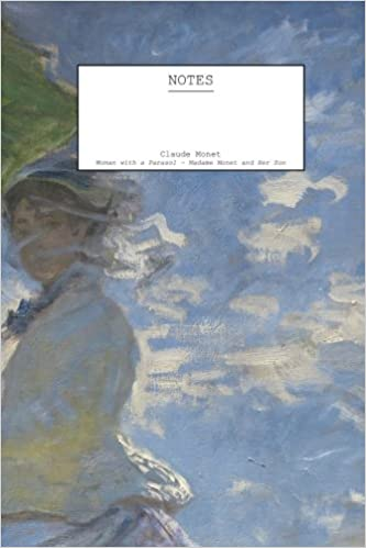 claude monet woman with a parasol madame monet and her son notebook 5 x 8 104 pages 52 sheets decorative notebook appreciation journal personal diary volume 1