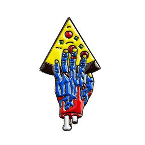 856store Big Promotion Zombie Hand with Pizza Halloween Creative Brooch Pin Party Club Jewelry Badge 2#