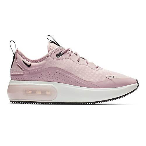 Nike Women's Air Max Dia Plum Chalk/Black/Summit White Mesh Cross-Trainers Shoes 8 M US (Nike Air Max Lebron Pink)