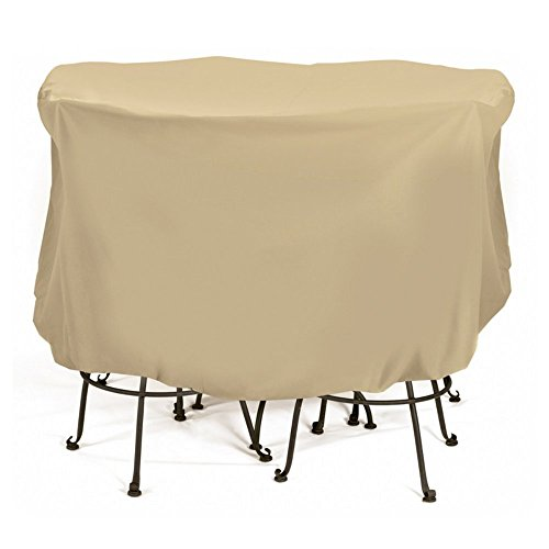 (Two Dogs Designs 2D-PF74005 Bistro Set Cover With Level 4 UV Protection, 74-Inch x 44-Inch, Large, Khaki )
