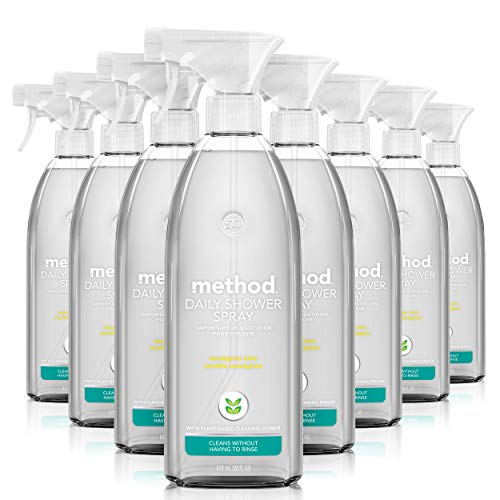 Method Daily Shower Spray Cleaner, Eucalyptus Mint, 28 Ounce, 8 pack, Packaging May Vary