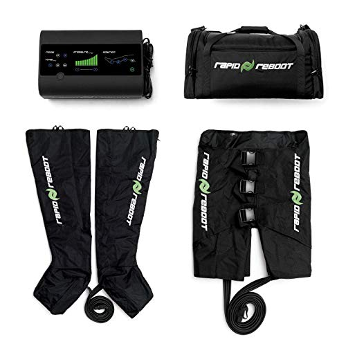 Rapid Reboot Boot & Hip Pack: Compression Boots, Hips, Pump, Case. Sequential, Dynamic air Compression for Massage Therapy, Improved Circulation and Faster Recovery for Athletes (M Boot, REG -