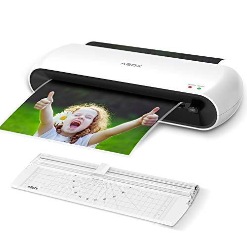 ABOX A4 Laminator Machine OL145, Portable Thermal Laminator for Professional Laminating with Trimmer and 12 Pouches