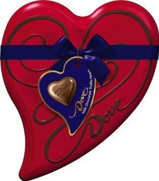 Dove Valentine's Milk Chocolate Truffle Heart Tin, 3.04 OZ (Pack of 4)