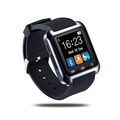 Smartwatch Luxury U8 Bluetooth Smart Watch WristWatch Phone with Camera Touch Screen for IOS Iphone Android Smartphone Samsung Smartphone (Black)