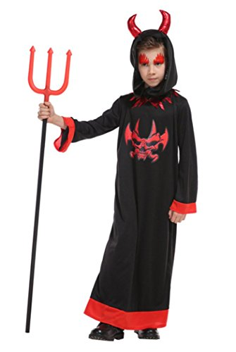 Honeystore Child Devil Costume Deluxe Vampire Halloween Costume Fancy Dress Up B-0160 XL