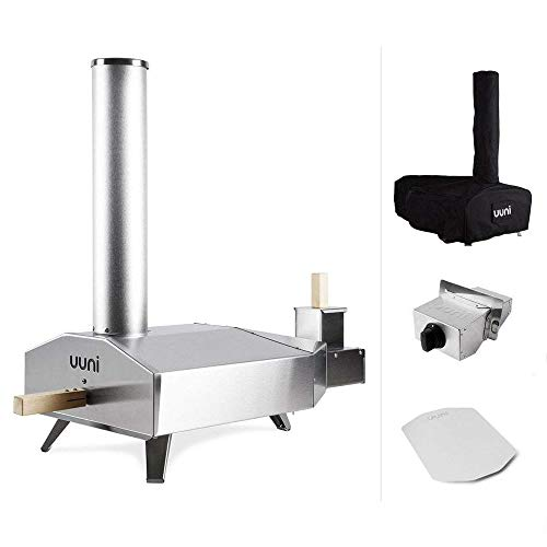 Ooni 3 Portable Pizza Oven with Pizza Peel, Gas Burner, and Cover Bundle