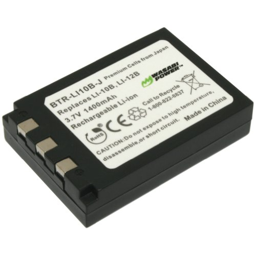 Wasabi Power Battery for Olympus LI-10B, LI-12B and Olympus Camedia C-50, C-60, C-70, C-470, C-760, C-765, C-770, C-5000, C-7000, D-590, X-1, X-2, X-3, X-500, FE-200, IR-500, Stylus 300, 400, 410, 500, 600, 800, 810, 1000