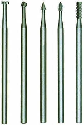 Proxxon 28710 Set of 5 Tungsten Vanadium Milling Bits