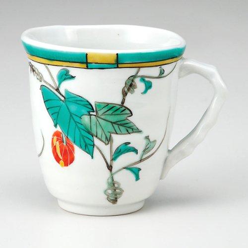KUTANI YAKI(ware) Coffee Mug Snake Gourd by Kutani