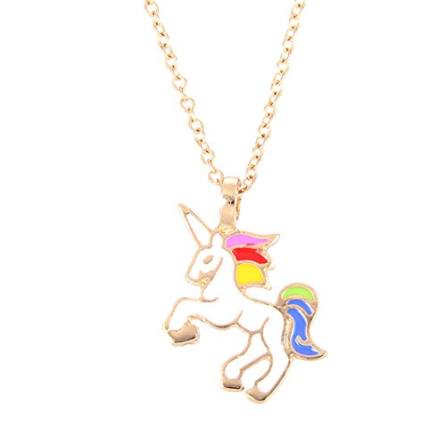 AIUIN Unicorn Necklace Pendant Necklace Chain Fashion Jewelry for Girls Women Gifts,with a Jewelry Bag