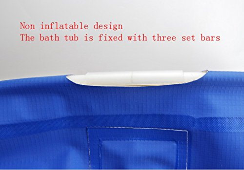 Foldable Inflatable Thick Plastic Bathtub Adult Baby Children Wash Basin Washable Home Bathroom Products Wear/Dirty/Durable/Easy To Clean (6565cm, 7065cm) (Color : Without cover, Size : 7065cm) by WURE (Image #5)