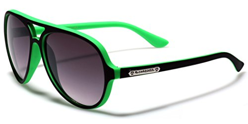 Neon Matte Frame Flat Top Style Aviator - Cheap Best Sunglasses For Men