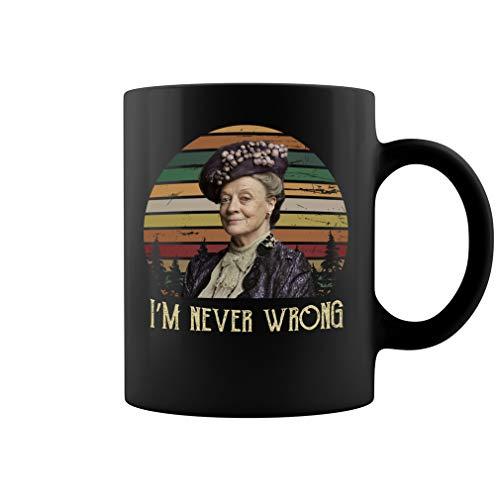 I'm Never Wrong Ceramic Coffee Mug Tea Cup (11oz, Black) -