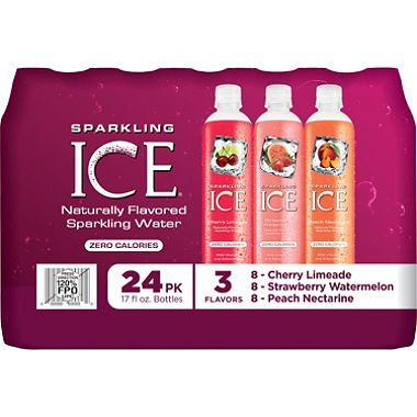 Sparkling ICE Sparkling Water, Fruit Blends Variety Pack (17 oz., 24 pk.) (pack of 6) by Sparkling ICE (Image #1)