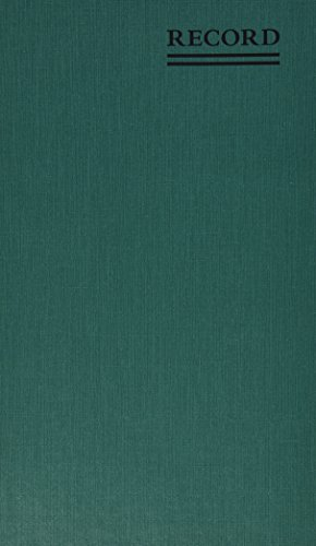 NATIONAL Emerald Series Record Book, Green Canvas Cover, 500 Pages, 12.125