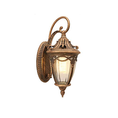 Sprsk Classical European Retro Style Wall Lamp of Simple Carved Wall Lamp of Flower Basket Wall Sconce Waterproof Outdoor Personality Wall Corridor Aisle Garden Villa Courtyard Wall Light