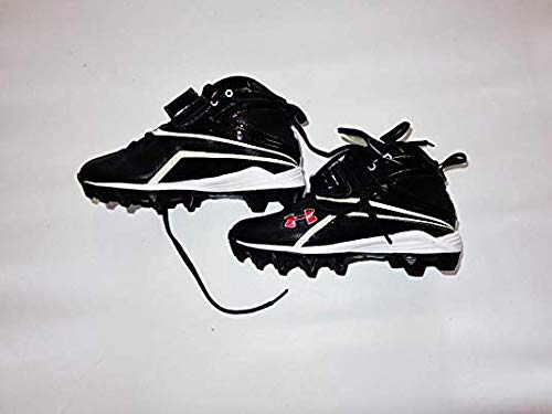 Under Armour New Crusher II Junior Molded Baseball Cleat Youth Size 6Y Blk/Wht