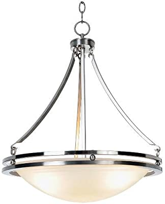 AF Lighting Contemporary Lighting Collection Chandelier, Brushed Nickel
